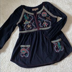 Double D Ranch Beaded Smock Top